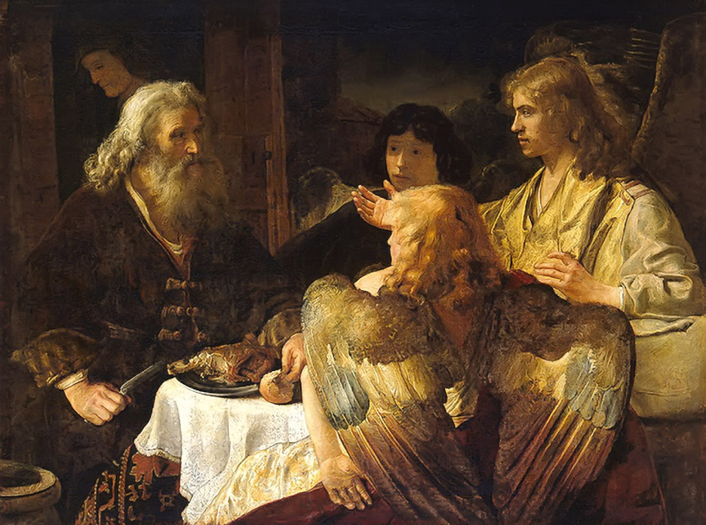Abraham And The Angels Bible Art