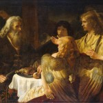 Abraham And The Three Angels Painting Rembrandt Oil