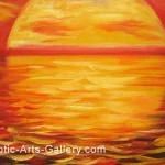 Abstract Art Sunset Painting