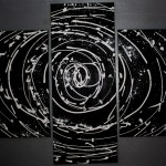 Abstract Black And White Rose Painting