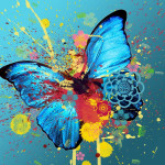 Abstract Butterfly Colorful Image Favim