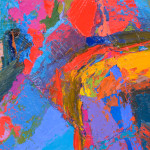 Abstract Expressionist Painting Jean Sampson Pushing Color Image