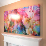 Abstract Flower Art Large Canvas Painting Floral