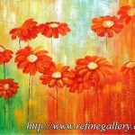 Abstract Flower Painting Oil Paintingm