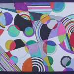 Abstract Modern Geometric Contemporary Painting Currently Available