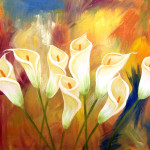 Abstract Painting Flowers Modern Paintings