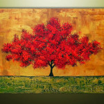 Abstract Tree Oil Painting Large Image For