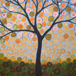 Abstract Tree Painting Sunny Day