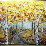 Abstract Tree Palette Knife Paintings View All