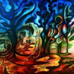 Abstract Trees Painting Gabriela Taylor Fine Art