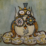Aceo Owl Art Card Flickr Sharing