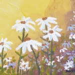 Acrylic Watercolor Flower Daisies Daisy Painting