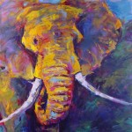 African Elephant Paintings Gayle Curry