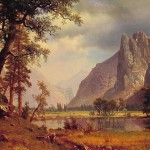 Albert Bierstadt Yosemite Valley Painting Framed Paintings For Sale