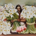 Alcatraces Diego Rivera Oil Color Painting Canvas