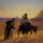 Alexis Girardet Flight Into Egypt Painting Framed Paintings For Sale