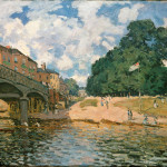 Alfred Sisley British Bridge Hampton Court Oil