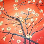 Almond Branchacrylic Canvas For Sale