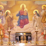Altar Painting Our Lady Queen All Saints Catholic Church Ville