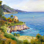 Amalfi Coast Oil Painting Alix Porras Fine Art