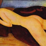 Amedeo Modigliani Couche Dos Painting
