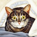 American Cat Art Paintings Funny Painting Lowell Herrero