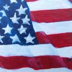 American Flag Paintings Abstract Painting The