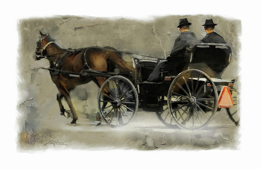 Amish Country Painting Bob Salo Fine Art Prints And