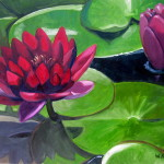And White Lotus Paintings Listed Etsy Shop Wendy Kwasny Fine Art