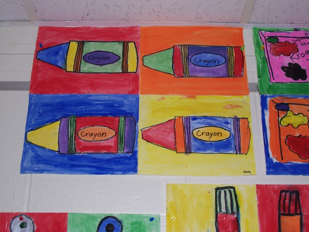 Andy Warhol Pop Art Inspired These Paintings Our Third Grade
