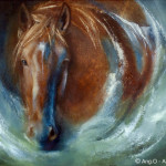 Ang Paintings Animal Horse Painting