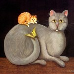 Animal Paintings Funny Art Cats Kriebel Set