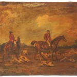 Antique English Equestrian Oil Painting Art