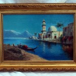 Antique English Oil Painting Morocco Daniel Sherrin For Sale