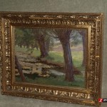 Antique Painting Oil Cardboard Sig Stanislaw Zukowski For Sale