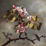 Apple Blossoms And Hummingbird Painting Best Paintings For Sale