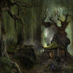 Arcania Gothic Fantasy Art Landscapes Forest Trees Wods Paintings