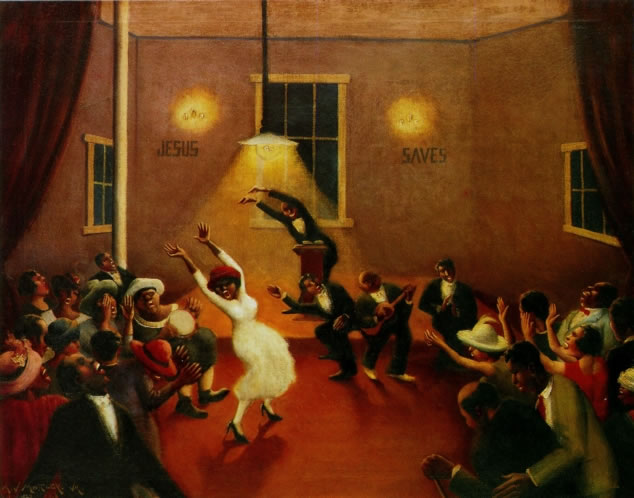 Archibald Motley Tongues Holy Rollers Jpg Art