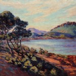 Armand Guillaumin The Bay Agay French Impressionist Oil Painting