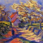Armand Guillaumin Village Street French Impressionist Oil Painting