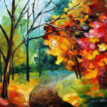 Around The Autumn Original Art Oil Painting Leonid Afremov