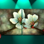 Art Abstract Orchid Floral Feng Shui Oil Painting Artist
