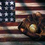 Art American Flag And Baseball Mitt Fine Prints Posters For