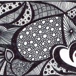 Art Black And White Abstract Aceo Artist Susan Forbrigger