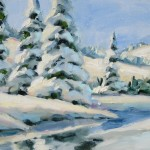 Art Falling Snow Holiday Special Large Oil Painting Tom Brown