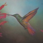 Art For Sale Hummingbird Acrylic Painting Canvas