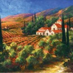 Art Fronckowiak Tuscan Monastery Painting Framed Paintings For Sale