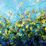 Art Melody Flowers Composition Flower Paintings