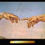Art Michelangelo Hands Painting Paintings Yah