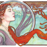 Art Nouveau Ssava Traditional Paintings Fantasy